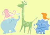 Baby Shower mit kleinen Zoo-Tieren