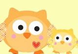 Babyparty-Motto mit kleinen Babyeulen