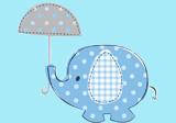 Blauer Babyphant für die Babyparty