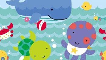 Kleine Meerestiere für die Babyparty