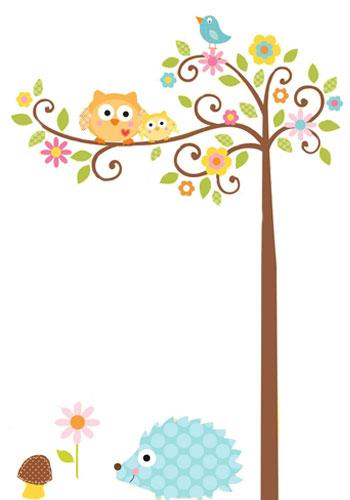 Zwei Eulen auf einem Baum