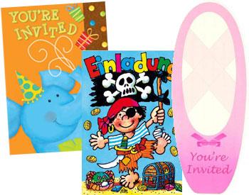 Lustige Geburtstagseinladungen für Kinder