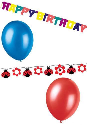 Bunte Deko für den Kindergeburtstag - Ballons und Girlanden