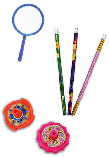 Kleine Spielzeuge als Kindergeburtstag-Mitgebsel