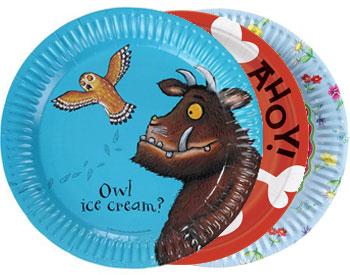 Lustige Teller für die Kinderparty