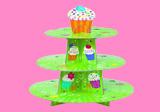 Kuchenständer und Muffinständer aus Pappe