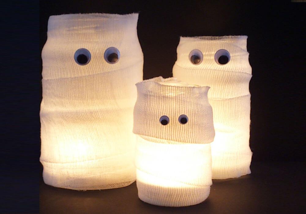 Mumien Kerzengläser Für Die Gruselparty
