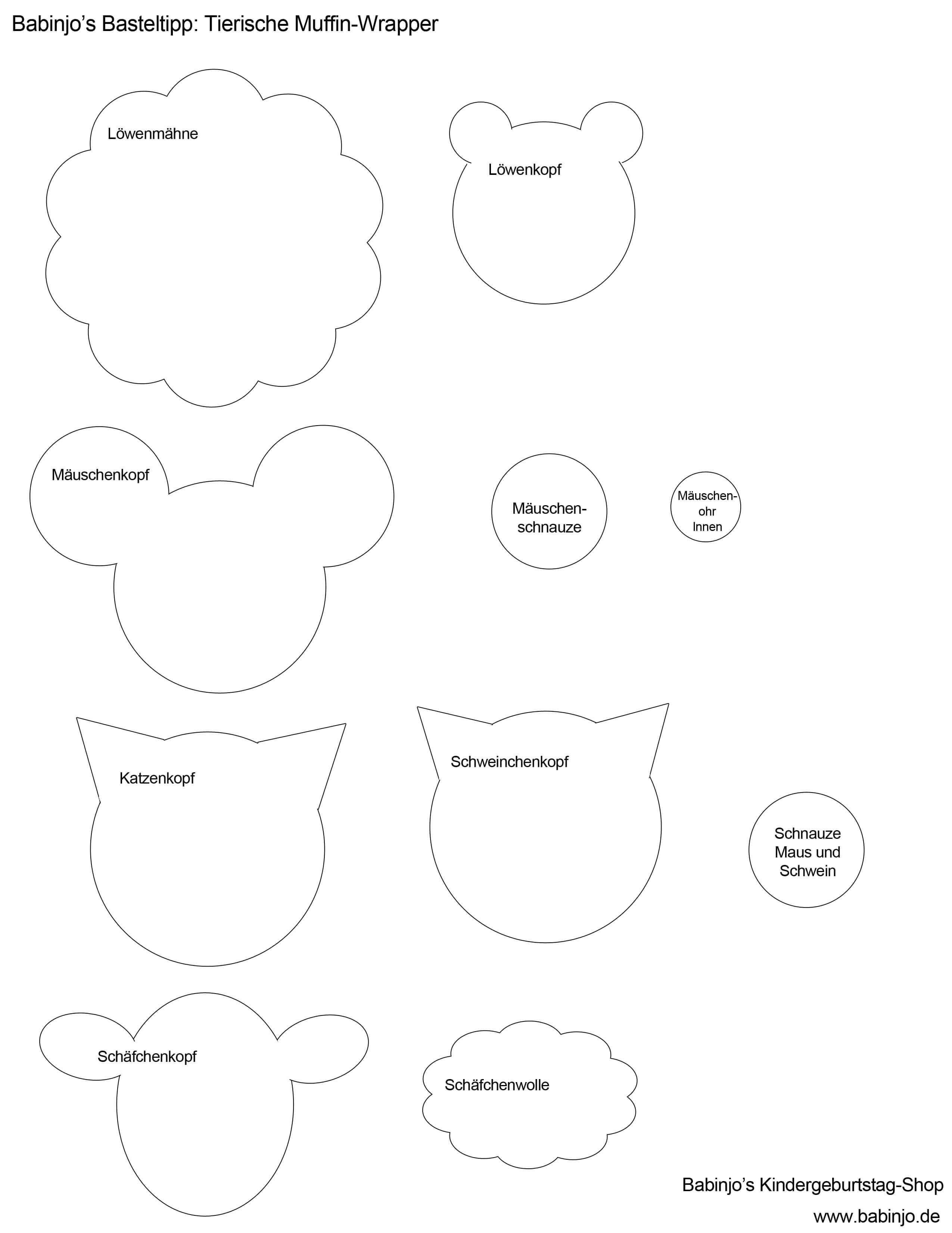 Muffin Banderolen Basteln Anleitung Und Schablonen