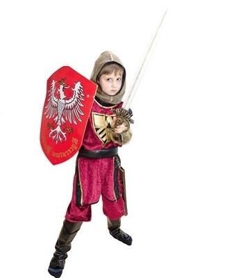 Junge auf Ritter-Kindergeburtstag
