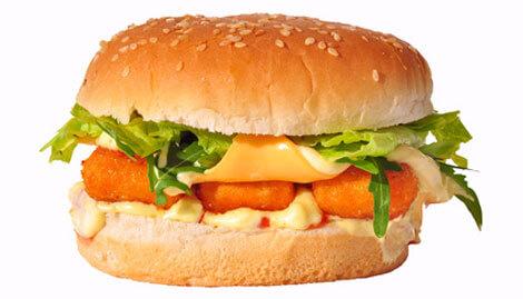 Hamburger mit Fischstäbchen