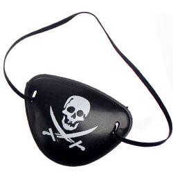 Augenklappe mit Totenkopf-Symbol