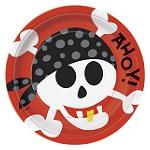 Pappteller mit Piratenparty-Motiv