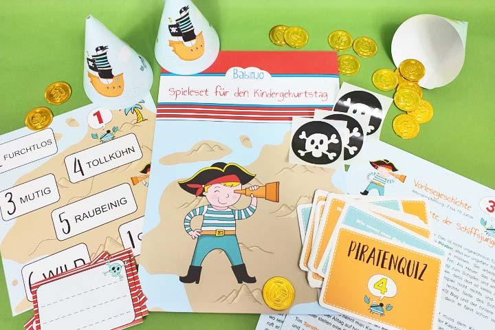Kindergeburtstag-Spiele-Set für die Piratenparty