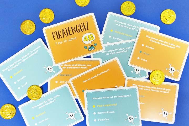 Kinder-Quiz-Spiel für den Piraten-Geburtstag