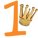 Prinzessinnen-Krone mit der Zahl 1