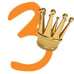 Prinzessinnen-Krone mit der Zahl 3