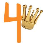 Prinzessinnen-Krone mit der Zahl 4