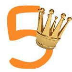 Prinzessinnen-Krone mit der Zahl 5