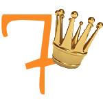 Prinzessinnen-Krone mit der Zahl 7