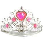 Silberfarbene Prinzessinnen-Krone mit Herz