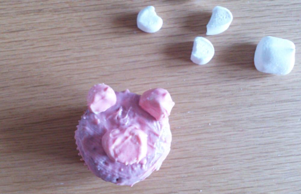 Vorbereiteter Schweinchen-Muffin