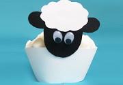 Muffins im Schaf-Design