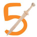 Ritterschwert mit der Zahl 5
