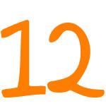 Zahlensymbol 12
