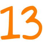 Zahlensymbol 13