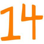 Zahlensymbol 14