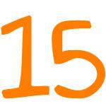 Zahlensymbol 15