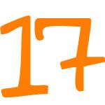 Zahlensymbol 17