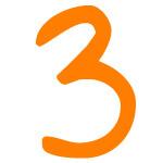 Zahlensymbol 3