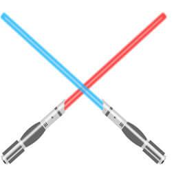 Laserschwerter aus Kunststoff