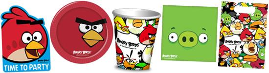 Kinderparty-Set mit Angry Birds-Motiv