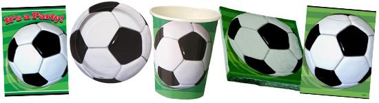 Kinderparty-Set mit Fußball-Motiven