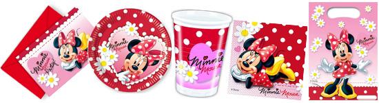 Kinderparty-Set mit Minnie Maus-Motiv