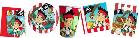 Kinderparty Set Mit Jake Und Den Nimmerland Piraten. 6 Einladungskarten ...