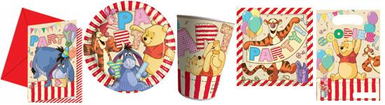 Kinderparty-Set mit Winnie Puuh-Motiv