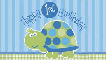 Schildkröte für den ersten Geburtstag