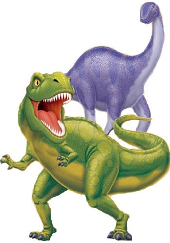 Tyrannosaurus und Apatosaurus