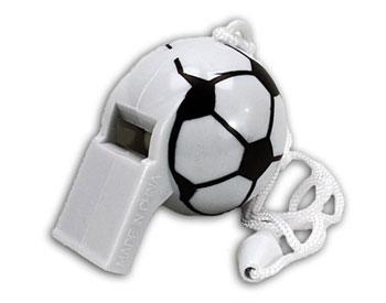 Trillerpfeife im Fußball-Design