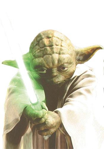 Master Yoda mit Laserschwert