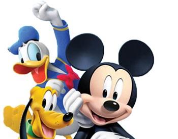 Micky Maus mit Donald und Pluto