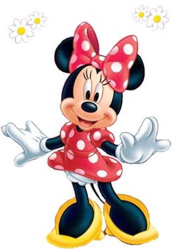 Minnie Maus mit Gänseblümchen