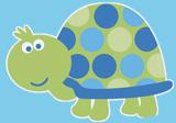 Schildkröten-Motiv für den ersten Geburtstag