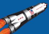 Weltraumparty mit Mondrakete