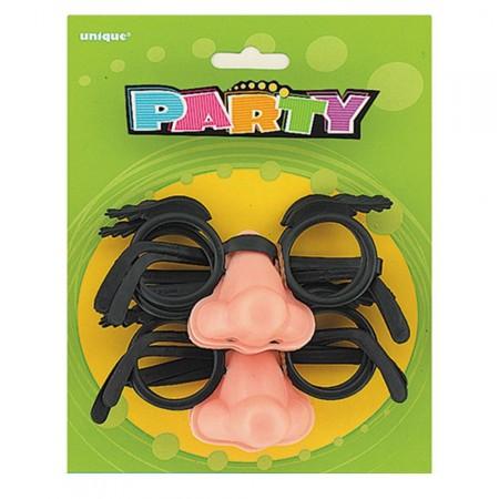 Brille mit Nase und Augenbrauen