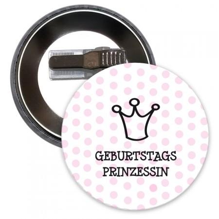 Button mit Geburtstagsmotiv in Pink