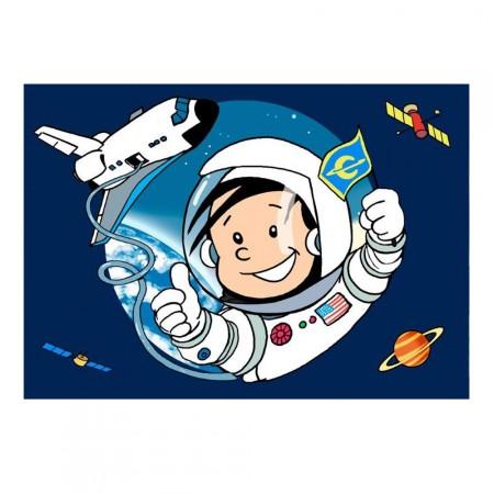 Kinderparty-Einladung mit Astronauten-Motiv